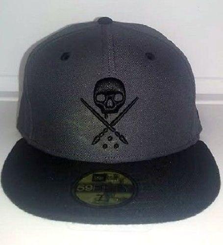 Sullen NEW ERA Eternal Totenkopf Grau Biker Tattoo Goth Punk Enganliegende Mütze