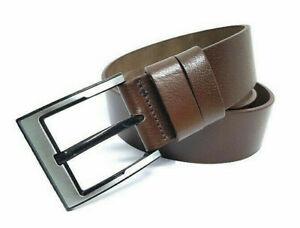 ca 4mm Dick Echt LEDER Gürtel Herren Damen Büffelleder Schwarz 3cm Breit