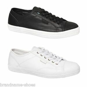 MENS-DUNLOP-VOLLEY-S-S-PREMIUM-LEATHER-MEN-039-S-SNEAKERS-CASUAL-BLACK-WHITE-SHOES