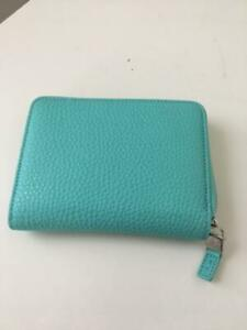 New-AUTHENTIC-TIFFANY-amp-Co-CLASSIC-TIFFANY-BLUE-LEATHER-ZIP-AROUND-WALLET-POUCH