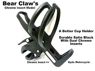 "Magazi black bottle Holder for Motorcycle 1/"" 25mm handlebar w// mounting hardware"