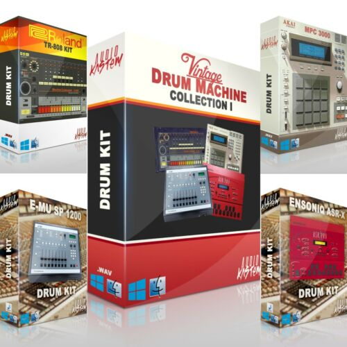 Drum Machine Bundle 1 Samples Sounds AKAI MPC Kit DOWNLOAD Trap Hip Hop WAV