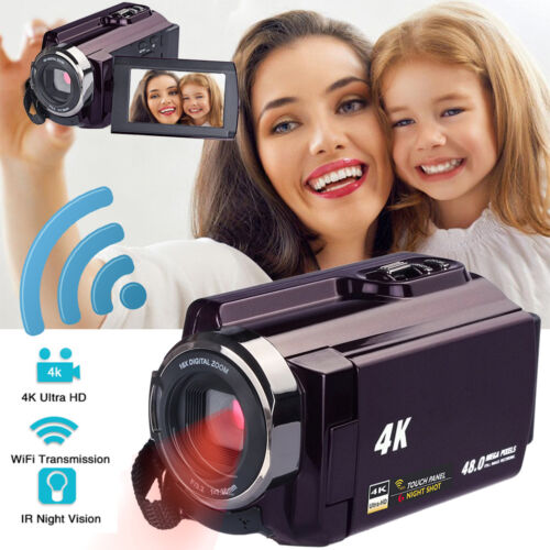 "HD 1080P Digital Video Camera 3.0"" LCD 16X ZOOM WiFi Camcorder DV 48MP AU Stock"