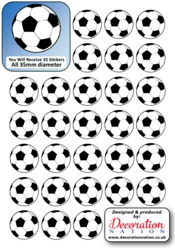 Football BALL STICKERS Decoration Fun Kids Sports Team Player Goal Soccer Pitch