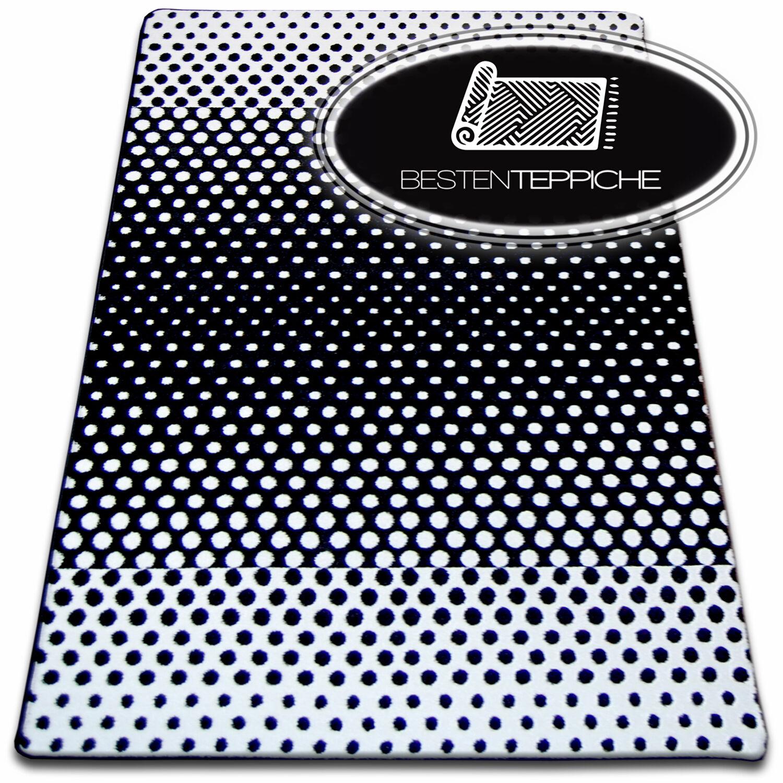 6 Größen Modern Weich Teppich SKETCH SKETCH SKETCH F762 schwarzweiß Dots Kreis Modisch | Großer Räumungsverkauf  6173cc