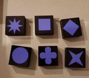 Qwirkle Replacement Parts//Pieces Lot of 6 Purple Tiles