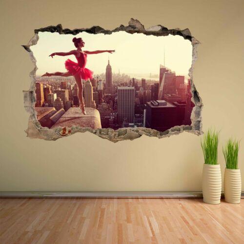 Ballerine Ballet Danseuse Art New York Skyline Wall Sticker Murale Decal Kids CK17