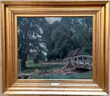 Viggo Pedersen (Danish 1854-1926) oil painting on canvas signed dated 1917