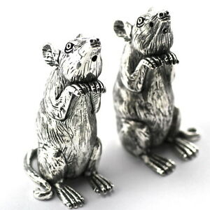 Novelty Victorian Style Mice Mouse Salt And Pepper Shakers