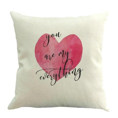 Valentine/'s Day Throw Pillow Case en forme de cœur Forever Lover Housse de coussin SN9F