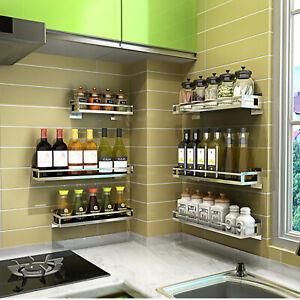 Kitchen-Spice-Rack-Stainless-Steel-Single-Tier-Storage-Shelf-Organizer-Holder
