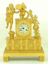 EMPIRE.HOCHFEINE  FEUER-VERGOLDETE BRONZE UHR 1820