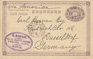 Giappone-1940-Osaka-post-card-to-Dusseldorf