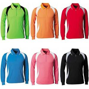 301950764b Mens Womens Zipup Coolon Sports Polo Collar T-shirts Top Tee Dry Fit ...