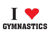 Gymnastics love team mascot temporary tattoo, pkg 10 | eBay