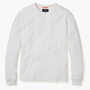 181c5d5e661fd Jack Spade Men s White Waffle Crew-Neck Long Sleeve Shirt