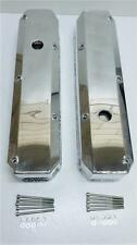 Small Block Mopar Plymouth Chrysler Fabricated Polished Valve Covers 318 340 360