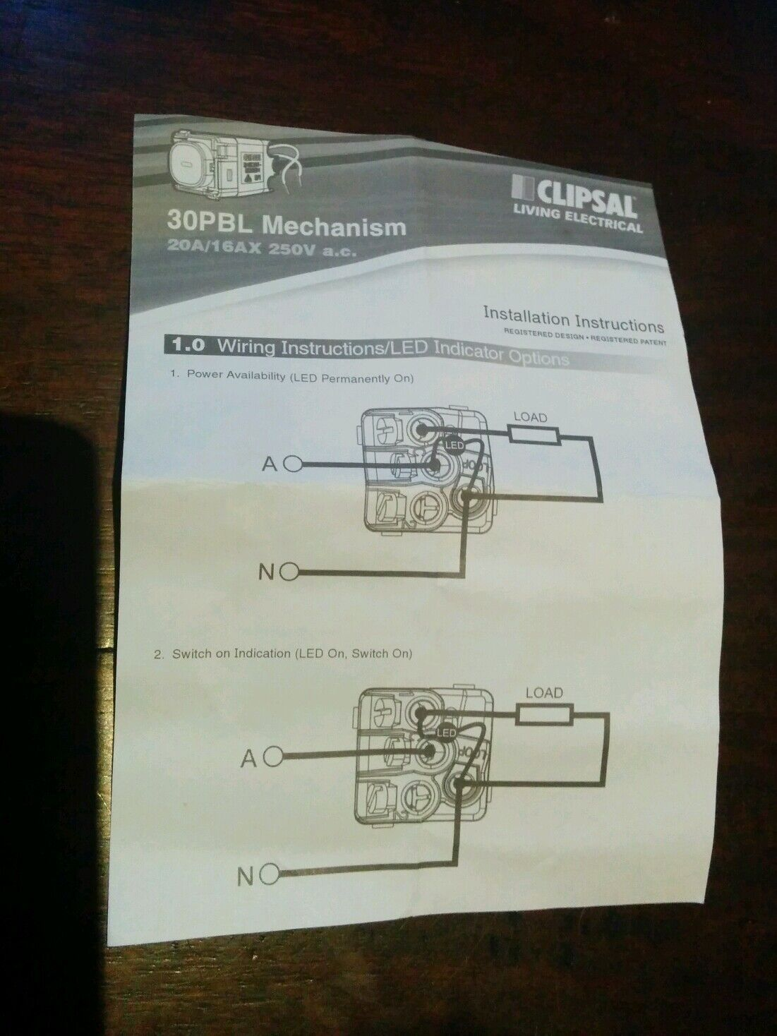 Clipsal Classic Impress 6 Six Gang Push Button Light Switch Led 250vac Wiring Diagram C2036vapbl Ebay