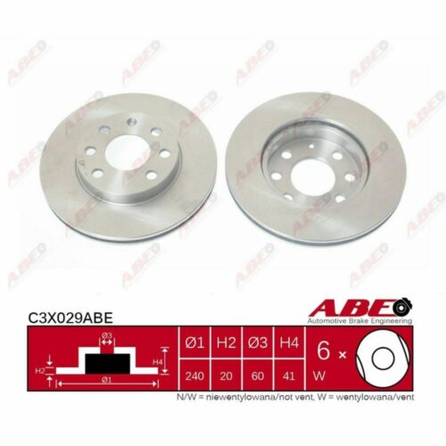 1 Unités ABE c3x029abe Disque de frein
