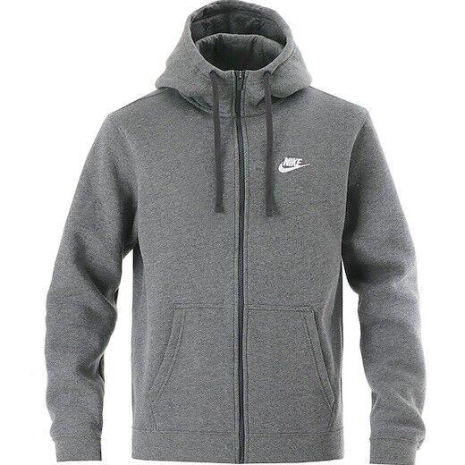 Oponerse a Misterioso cangrejo  Nike Men's Optic Fleece Hoodie Full Zip Gray 928475-021 Large for sale  online | eBay