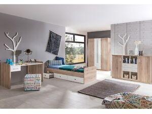 Jugendzimmer lenny 4 teile mit funktionsbett schreibtisch for Jugendzimmer komplett mit funktionsbett