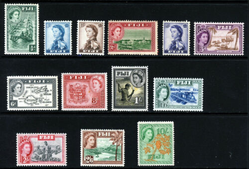 FIJI Queen Elizabeth II 195459 Pictorial Part Set SG 280 to SG 294 MINT