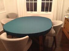 "Green Poker Felt Table cloth - fits 60"" round table - elastic edge bl - mto"