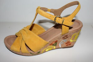 Gabor Comfort Sandalette senfgelb mit Stickerei  UK Gr. 6,5 = Gr. 40 NEU (#29)