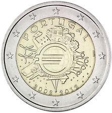 Portugal 2 Euro Gedenkmünze 2012 bfr. 10 Jahre Euro Bargeld Gemeinschaftsausgabe