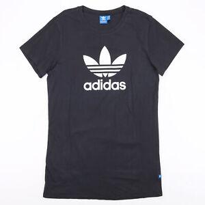 ADIDAS Dress Black 00s Short Sleeve T-Shirt Mens S