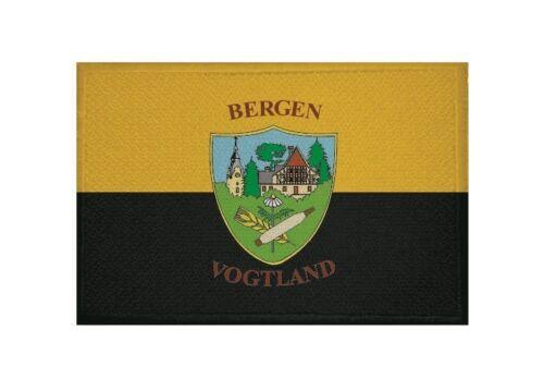 Ricamate montagne Vogtland bandiera bandiera aufbügler Patch 9 x 6 cm