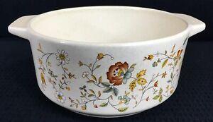 Temper-Ware-By-Lenox-Merriment-Round-1-25-Quart-Open-Casserole-Dish-Vintage-USA
