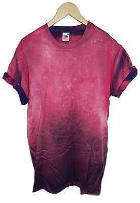 Tie dye t shirt acid wash hipster dip dye galaxy retro 80s 90s festival rave top