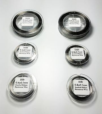 Kanthal A1 Flat Ribbon 0.6mmx0.1mm, 0.8mmx0.1mm Resistance Wire Wholesale!!