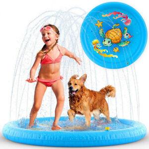 Colchoneta de Chorros Agua para Niños Hinchable Piscina Bebés Alfombra de Juegos
