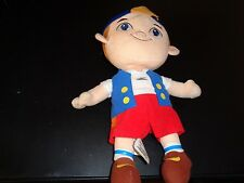 DISNEY JR PLUSH DOLL FIGURE JAKE THE NEVERLAND PIRATES AYE MATEY CUBBY TOY PLUSH