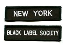 BLACK LABEL SOCIETY FAN NEW YORK NY FAN CLUB PATCH SET