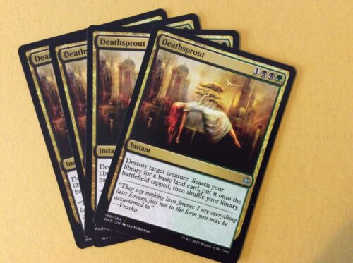 MTG War of the Spark X4 Deathsprout NM//M