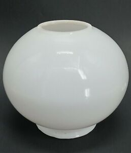 Vintage-Lamp-Shade-White-Light-Globe-Glass-Round-Ball-Hurricane-GWTW-3-034-Fitter