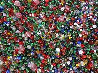1/2 Pound Assorted Plastic Seed Beads Mix Bulk Decorative Arts Crafts