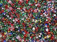 1/2 Pound Assorted Plastic Seed Beads Mix Bulk Decorative Arts Crafts