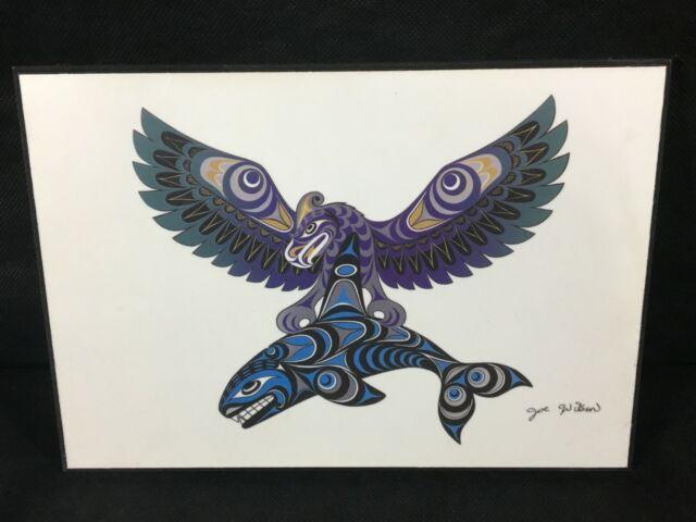 Thunderbird and Killer Whale Joe Wilson Art Card Coast Salish SXWASET Native