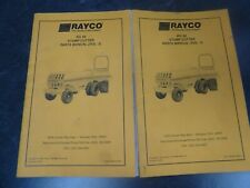 Rayco Rg 50 Stump Grinder Cutter Parts Catalog Manual Book 2 Volume Set