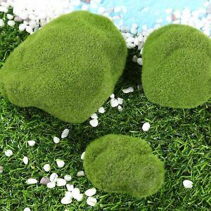 Miniature Artificial Marimo Moss Balls Grass Stones Landscape Garden Ornament