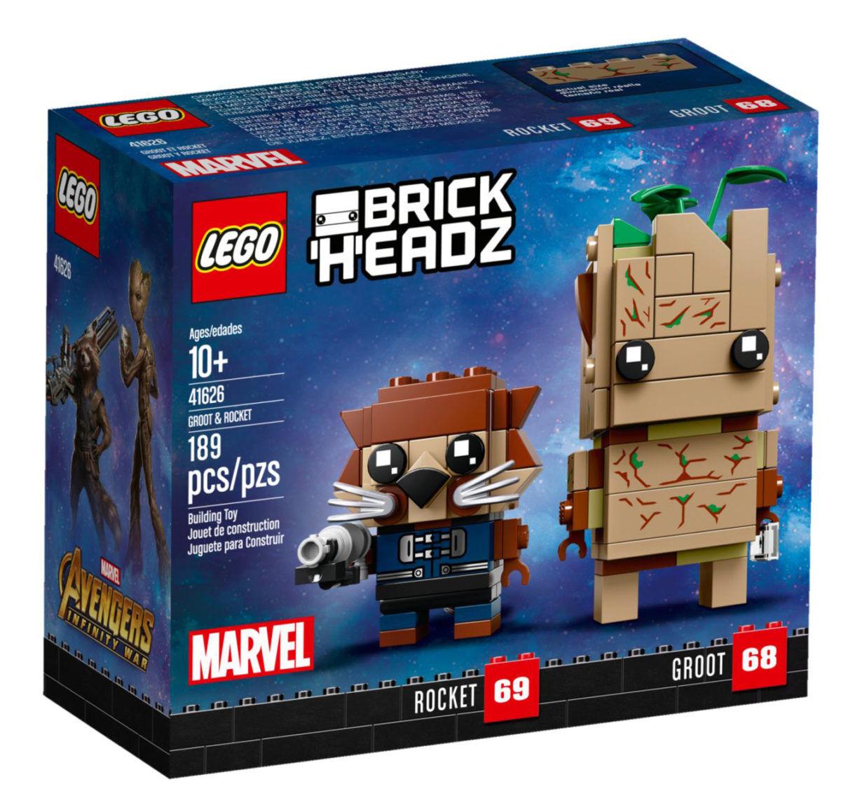Lego brickheadz 41626 Marvel groot y rocket Exclusiv hard to find