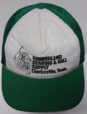 Vtg 1990s CUMBERLAND BEARING MILL SUPPLY Clarksville TN SNAPBACK HAT TRUCKER CAP