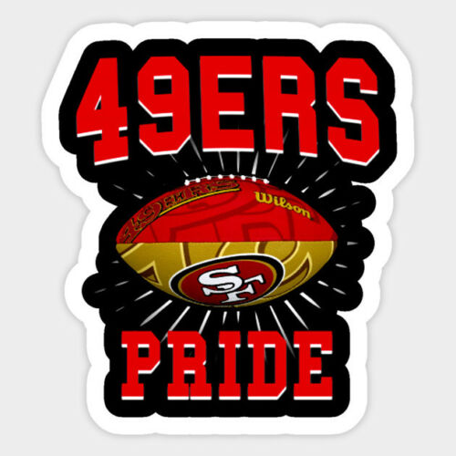 San Francisco 49ers vinyl sticker for skateboard luggage laptop tumblers  o