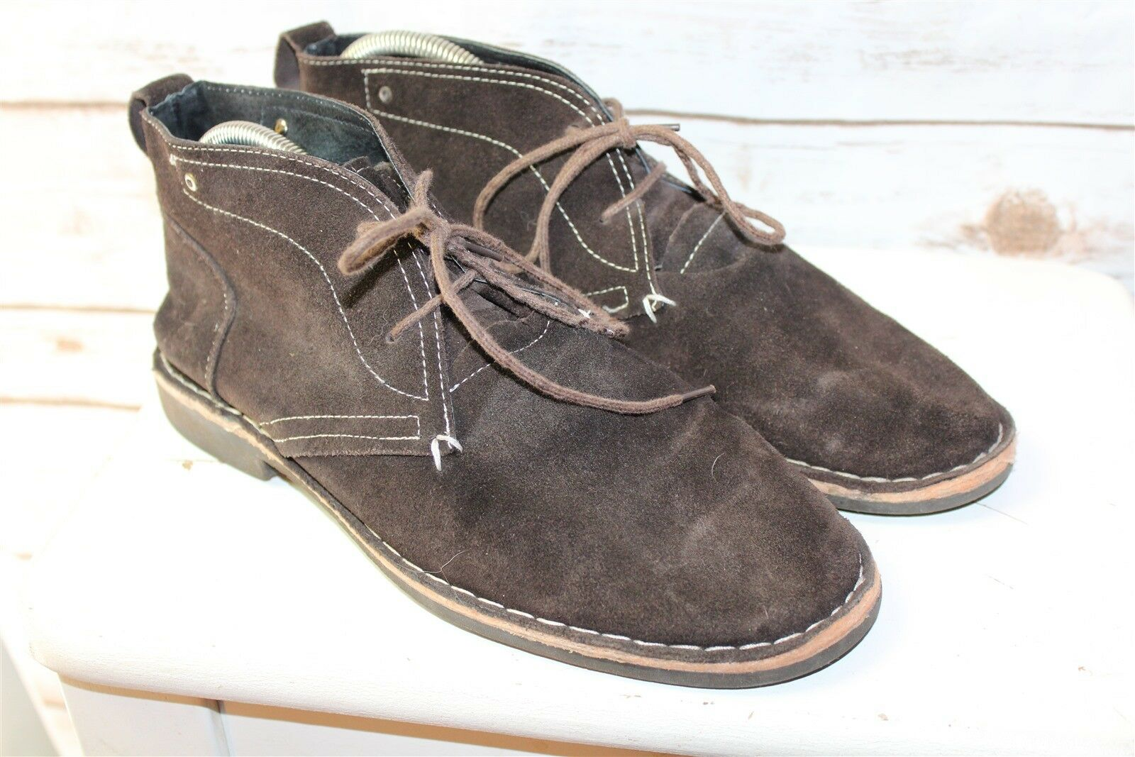 Via Spiga Brown Suede Laced 9 Men's Ankle Boots