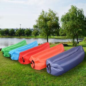Lazy-Lounger-Inflatable-Air-Bed-Sofa-Sack-Hangout-Camping-Beach-Bean-Bag-UK