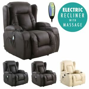 CAESAR-ELECTRIC-LEATHER-AUTO-RECLINER-MASSAGE-HEATED-GAMING-WING-SOFA-CHAIR